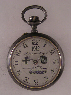 Just Serviced MILITARY WW2 Years French Hi Grade Pocket Watch A+A+