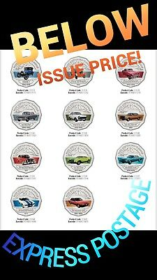 Ford Classic Collection 11 Coin Set 2017 50 Cent Coloured Express Post