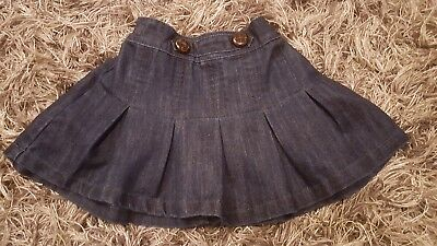 next girls denim skirt 18-24 months