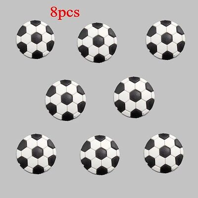 Football Shoe Charms Accessories Fits Clog Shoes Wristband Childs Gifts 8pcs
