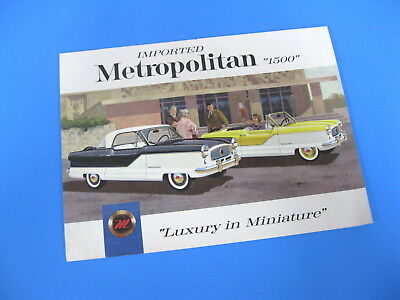 "Original Vintage American Motors Metropolitan ""1500"" Color Catalog"