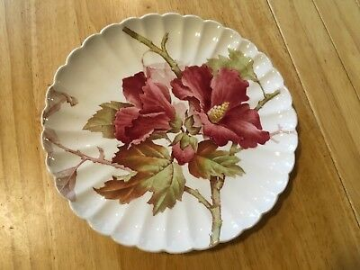 """Antique Floral Brown Westhead & Moore 8.5"""" Plate"""