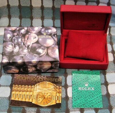 Ladies ROLEX Inner & Outer BOXES with Pillow and BOOKLETS 14.00.01 GENEVE SUISSE