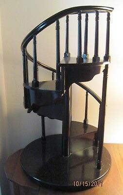 Wood Spiral Staircase For Byers Choice Dolls