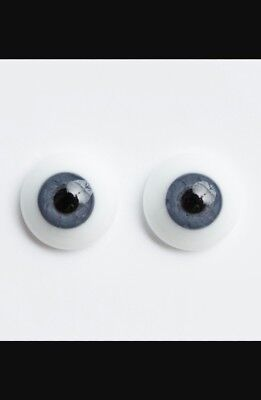 reborn 22mm half round German glass eyes