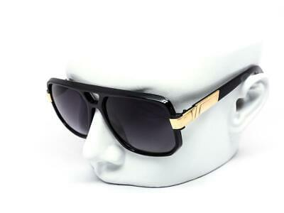 bae1864c245f Fashion Large Big Gazelle Hip Hop Flat Top Aviator Square Gold Sunglasses  Shades