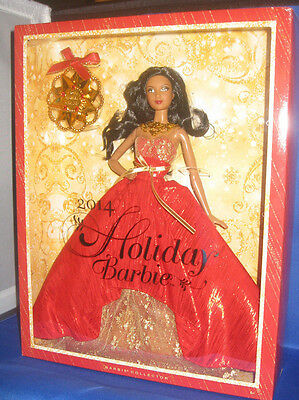 2014 Holiday Barbie Collector  Aa Barbie Doll & Ornament Mint, Nrfb