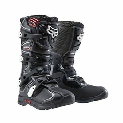 Fox Youth Comp 5 Motocross Boots Black Brand New Size US 6
