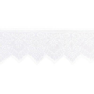 Wide Lace Trimming DIY Sewing Applique 3 Yard 19cm (White) WS X8X5