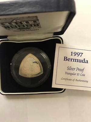 1997 Bermuda Silver Proof Triangular $3 Coin