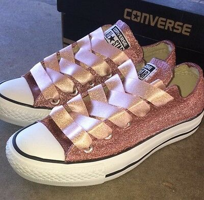 74a9310c960839 ... purchase custom made rose gold glitter converse shoes 99877 f2a4b