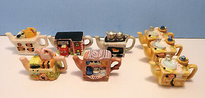 Lot of 8 Red Rose Tea original Wade tea pot houses excellent