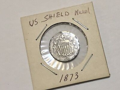 #20. US 1873 Shield Nickel EF from Old Estate Coin Collection Lot
