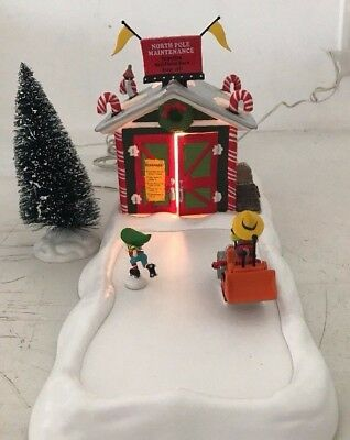 Department 56 ~ North Pole Maintenance~ (Animated) ~  #57203 Plus extra pieces
