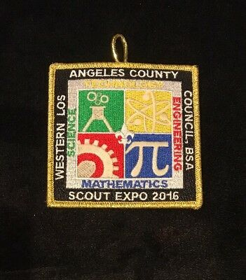 BSA Western Los Angeles County Council Scout Expo 2016 STEM Theme Pocket Patch