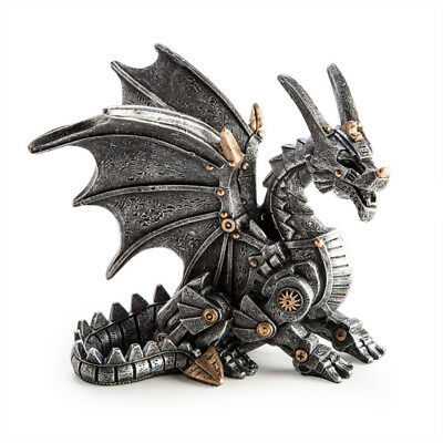 Steampunk Mechanical Gears Dragon Figure Statue Ornament Fantasy Gothic Gift New