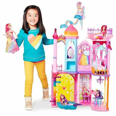 Barbie Rainbow Cove Princess Castle Playset Doll House #1366