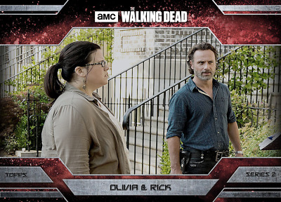 Topps Walking Dead Allegiance Series 2 Rick Grimes and Olivia MAGMA 100cc