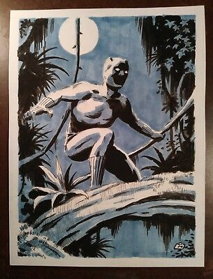 "Dan Morton Original Black Panther Art "" King Of Wakanda """