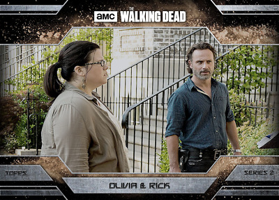 Topps Walking Dead Allegiance Series 2 Rick Grimes and Olivia DUST VARIANT
