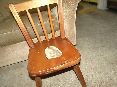 Vintage Childs' Wood Desk Chair