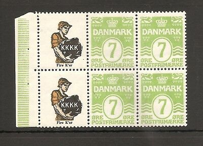 DENMARK (RE31+RE31) advertising booklet pane, Never hinged