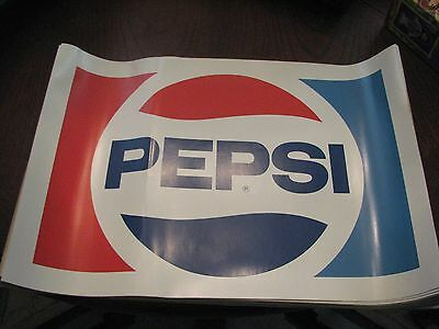 pepsi original 1970s 14x10 decals rare hard to find