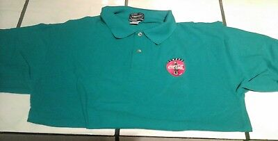 Always Coca-Cola Turquoise Golf Shirt Size M