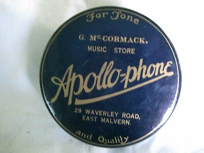 """OLD VINTAGE GRAMOPHONE DUSTER CLEANER """"APOLLO - PHONE"""" G McCORMACK MUSIC STORE"""