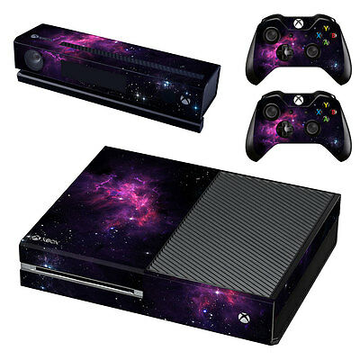 New Microsoft Xbox One Galaxy Console Sticker Vinyl Skin Decal Cover