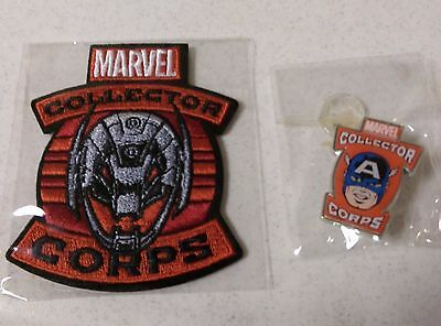 Captain America Pin & Ulton Patch Set from Collector Corps - Out of Print!