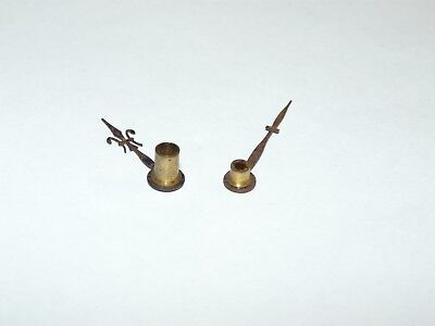 Antique Carriage Clock Parts - Set of French Fleur De Lys Hands Used Genuine