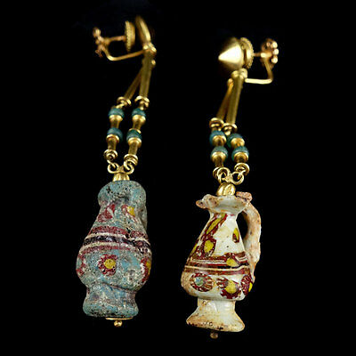 Rare Byzantine to Islamic pair of earrings. x7670