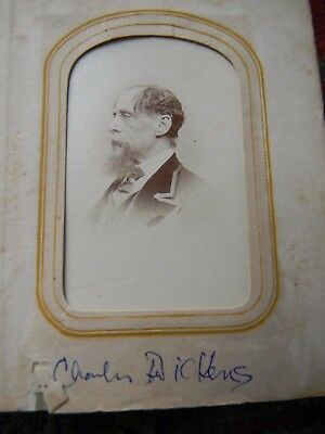 ANTIQUE CDV PHOTOGRAPH ALBUM - 24 FAMOUS PEOPLE FROM THE 19th Century