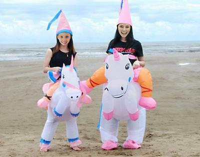 ADULT kid INFLATABLE UNICORN FANCY DRESS COSTUME PRINCESS HEN STAG NIGHT Clothes