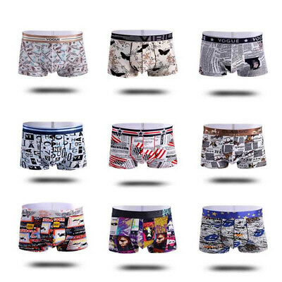 New Hot Sexy Male Boxer Panties Solid Ice Silk Shorts Plus Size Underpants Trunk