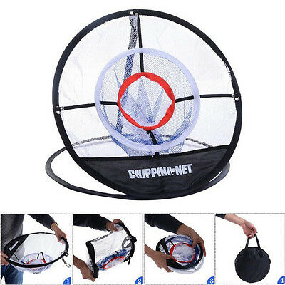Portable 20'' Golf Training Chipping Net Mat Hitting Aid Practice In/Outdoor Bag