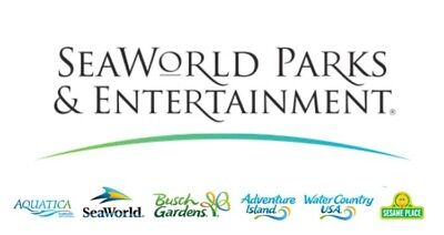 (1) Adult, 1Day Admission Tickets to ANY Seaworld or Busch Gardens *PRINT N GO!*