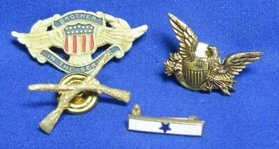 WWII Brother In Service, Son In Service, Army Infantry Home Front Pins Lot Of 4
