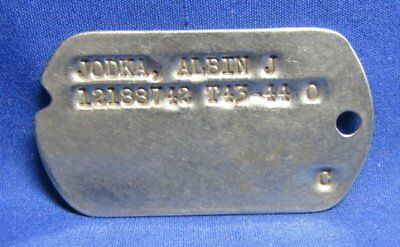 WWII 1943-1944 Army Dog Tag T43-44