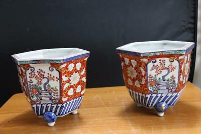 Pair Fine and Old Japanese Porcelain Planter Bowls