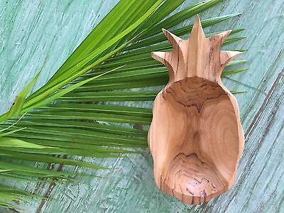 New Hand Carved Wooden Pineapple Bowl
