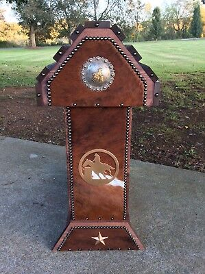 Saddle Stand / Barrel Racer Concho / Cowhide Western Decor / Made In Usa