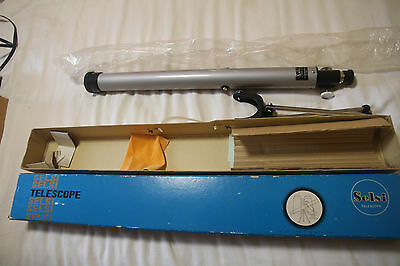 Vintage Selsi No 252 Telescope 40 mm Zoom JAPAN 25x to 50x with tripod + box EX
