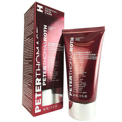 6 Pack - Peter Thomas Roth Laser Free Retexturizer Exfoliating Scrub 2 oz Magic Stylo Semi Permanent Makeup Pen in Burgundy Beauty with Remover Pen