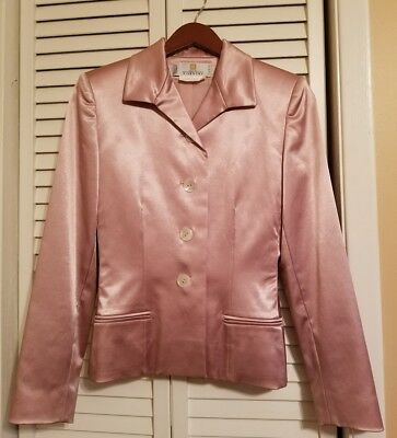 GIVENCHY COUTURE PARIS - Muted Pink High-Sheen Dress Blazer Women's Size 36 EUC