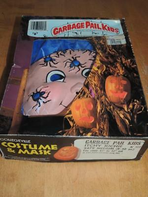 1985 Garbage Pail Kids Itchy Ritchie Child's Halloween Costume in box Med 8-10