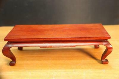 "Fine and Old Chinese Carved Wood Stand 11"" L by 5"" W. Wood Stand or small Table"