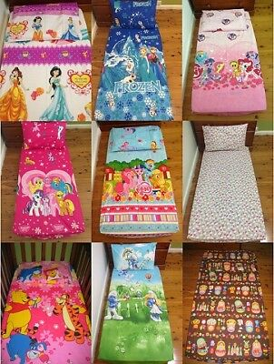 New Pooh, Princess, Little Pony, Smurf, Frozen, Hello Kitty Cot fitted sheet