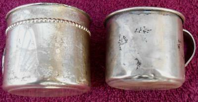 2 STERLING SILVER Baby Cups - Reed & Barton - 124.2 grams